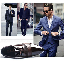 Men Black Dress Formal Oxfords Leather shoes Business Dress Fashion Casual Shoes