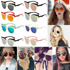 Women's Gold Retro Cat Eye Sunglasses Classic Designer Vintage Fashion Shades RE