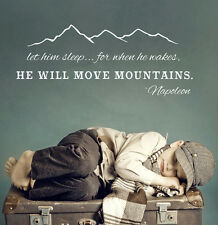 He Will Move Mountains Wall Decal Quote Napoleon Vinyl Sticker Home Decor aa277