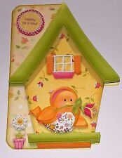 Handmade Greeting Card & Matching Envelope 3D All Occasion W/ A Birdhouse & Bird
