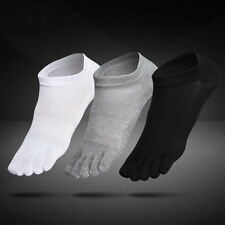 6 Pairs Mens Cotton Toe Five Finger Socks Solid Ankle Sport Breathable Low Cut U