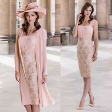 Chiffon 2 Pieces Mother Of The Bride Dresses Evening Formal Gowns 3/4 Sleeve New