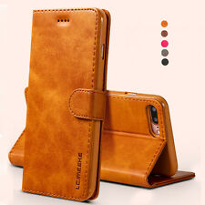 For Apple iPhone 6/6S/7 Plus Magnetic Flip Card Leather Wallet Case Stand Cover