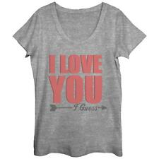 Womans: Love You I Guess Scoop Neck Ladies T-Shirt Grey New Shirt