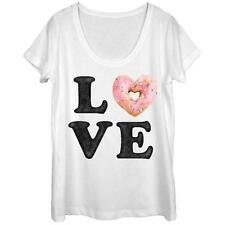 Womans: Donut Love With Sprinkles Scoop Neck Ladies T-Shirt
