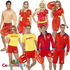 Mens Womens Official Baywatch Lifeguard Fancy Dress 1990s Stag Hen Party Costume