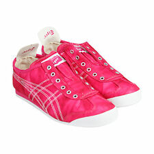Onitsuka Tiger Mexico 66 Womens Pink Textile Slip On Slip On Trainers Shoes