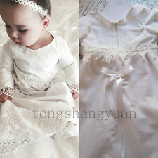 2017 Baby Baptism Dresses For Girls Boys Lace Applique Infant Christening Gowns