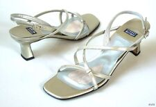 """new STUART WEITZMAN """"Twigs"""" strappy silver leather sandals Shoes 6.5 - wedding"""
