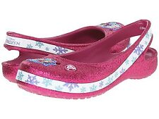 CROCS 202708-675 GENNAII FROZEN FLAT GS Inf/Yth (M) Berry Croslite Slip-On Clog