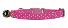 pink & white polka dots safety cat kitten collar