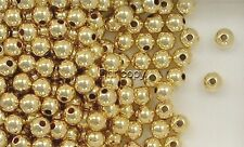 14K Gold Filled 5mm Seamless Round Spacer Beads, Choice of Quantity & Price