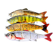 Multi Jointed Baits Fishing Lures 4-Sections Crankbaits with 6# Treble Hooks