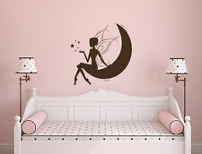 Fairy Tale Wall Decal Princess Magic Moon Stars Decal Nursery Kids Decor L538