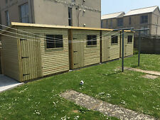 WOODEN GARDEN HUTS STORAGE WOOD PENT SHEDS TIMBER SHED TANALISED PENT FULLY T&G