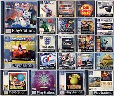 Sony Playstation 1 One Video Games Your Choice Sports Quiz Racing Driving Action