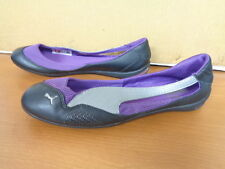 New Womens Puma 303998 06 Winning Diva Ballerina Flats Blk/Slv/Purple ( I 10