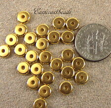 Heishi Disk Beads, Tierracast, 6mm Spacers, Gold Plate, 20/100 Pieces, 4225