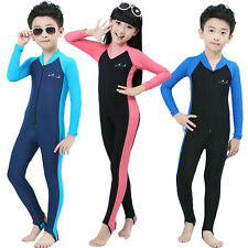 Children Summer Piece Scuba Snorkeling Wetsuit Rash Guard Surfing Surf Clothing