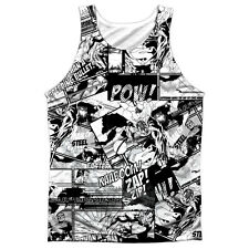 Superman Comic Strips Mens Sublimation Polyester Tank Top Shirt WHITE