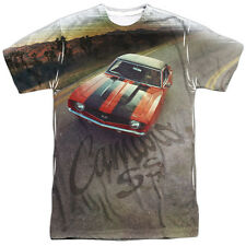 Chevy Camaro Ss Mens Sublimation Polyester Shirt White