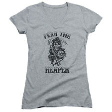 Sons Of Anarchy Fear The Reaper Juniors V-Neck Shirt