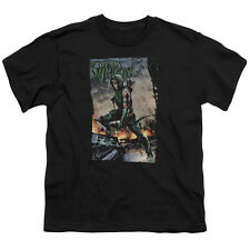 Justice League Fire And Rain Big Boys Youth Shirt Black