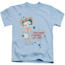 Betty Boop Hot And Spicy Cowgirl Little Boys Juvy Shirt