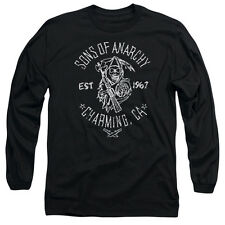 Sons Of Anarchy Fabric Print Mens Long Sleeve Shirt