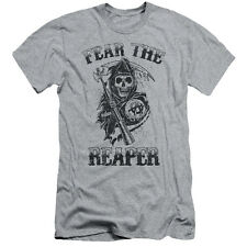 Sons Of Anarchy Fear The Reaper Mens Slim Fit Shirt Athletic Heather