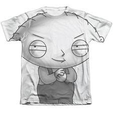 The Family Guy Stewie Head Mens Sublimation Poly Cotton Shirt White