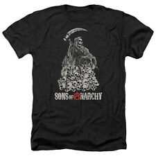Sons Of Anarchy Pile Of Skulls Mens Heather Shirt Black