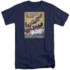 Rocky & Bullwinkle Vintage Poster Mens Big and Tall Shirt