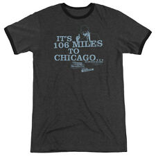 Blues Brothers Chicago Mens Adult Heather Ringer Shirt Charcoal