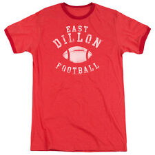 Friday Night Lights East Dillon Football Mens Adult Heather Ringer Shirt Red