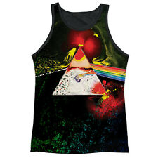 Pink Floyd Dark Side Of The Moon Mens Adult Tank Top Sublimation Shirt White