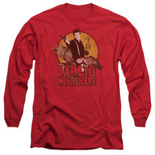 Firefly I Aim To Misbehave Mens Long Sleeve Shirt Red