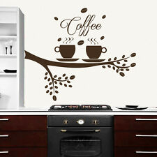 Coffee Tree Wall Decal Coffee Cup Decal Kitchen Decor Vinyl Cafe Sticker  563
