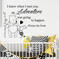 Wall Decal Winnie The Pooh Quote Decal Vinyl Nursery Room Decor Sticker Art  647