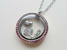 Stainless Steel Floating Locket Necklace, Memory Locket Necklace