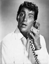 Dean Martin and Jerry Lewis in White Classic Portrait High Quality Photo