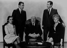 Hitchcock Alfred with Two Men standing and Two Ladies sitting High Quality Photo