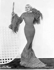 Mae West standing in Classic Long Gown High Quality Photo