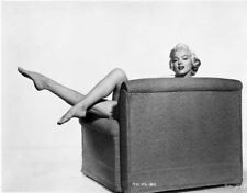Marilyn Monroe sitting on Couch Classic Portrait High Quality Photo