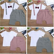 Baby Boy Wedding Christening Formal Suit Outfit Tuxedo Jumpsuit Shirt Tops Pants
