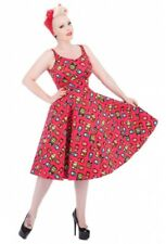 Hearts and Roses H&R Retro Pin Up 1950's Pink Eliza Spicy Swing Dress Rockabilly