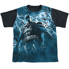 Batman Stormy Knight Big Boys Youth Sublimated Shirt with Black Back
