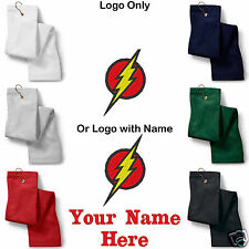 The Flash Logo Embroidered Golf Sport Towel Reg. or Custom/Personalized