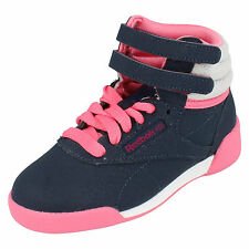 GIRLS REEBOK LACE UP HI TOP TRAINERS WITH RIPTAPE STRAPS STYLE: HI COZY CRAZE
