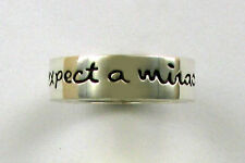 """925 Sterling Silver Ring, """"expect a miracle"""", Far Fetched, Retired Design"""